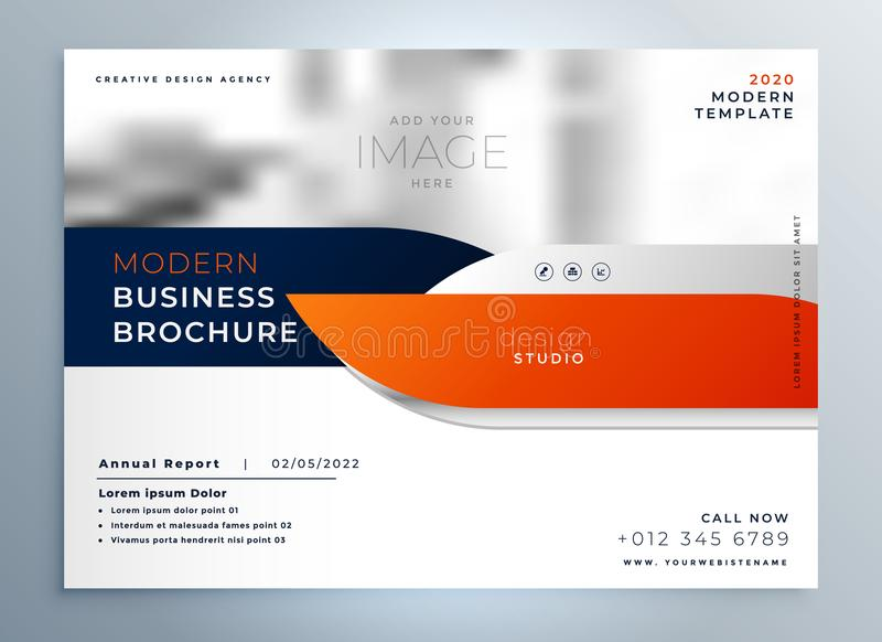 Professional modern brochure magazine cover template royalty free illustration