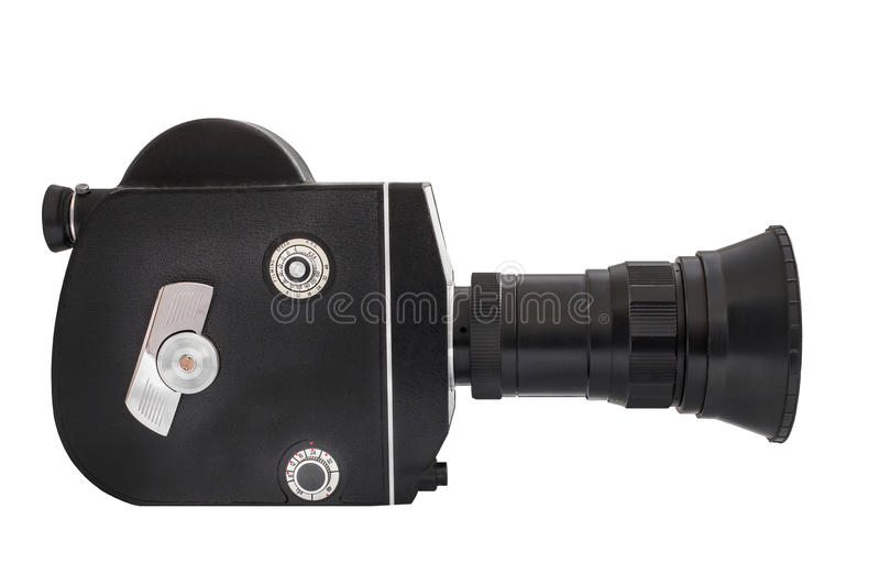 Download Professional Movie Camera On 16mm Film, Isolated On White Background Stock Photo - Image: 48795394