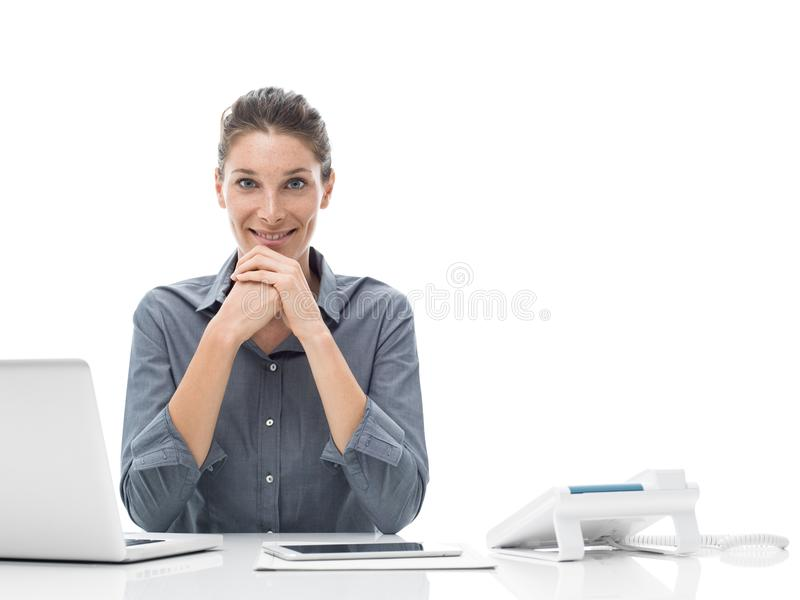 Professional office worker stock images