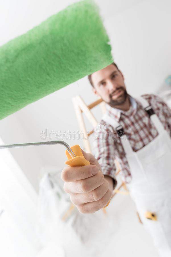 Professional painter royalty free stock photo