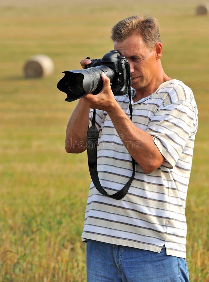 Professional photographer stock photography