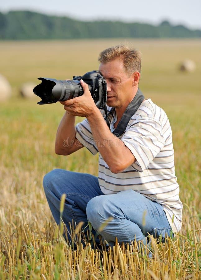 Professional photographer stock image