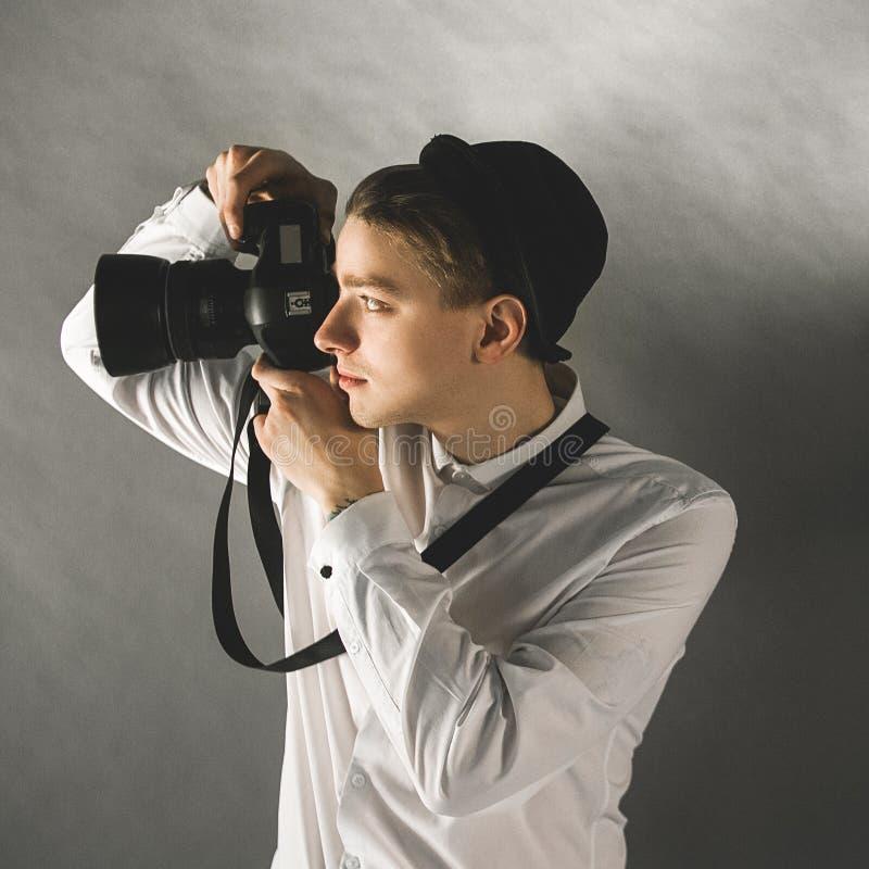 Professional photographer creative occupation stock photos