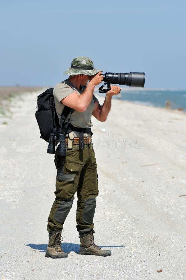 Download Professional Photographer Outdoor Stock Image - Image: 14349549