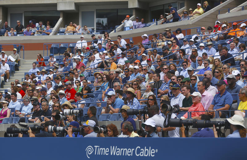 Download Professional Photographers And Spectators During US Open 2013 At The Arthur Ashe Stadium At National Tennis Center Editorial Photography - Image: 35143582