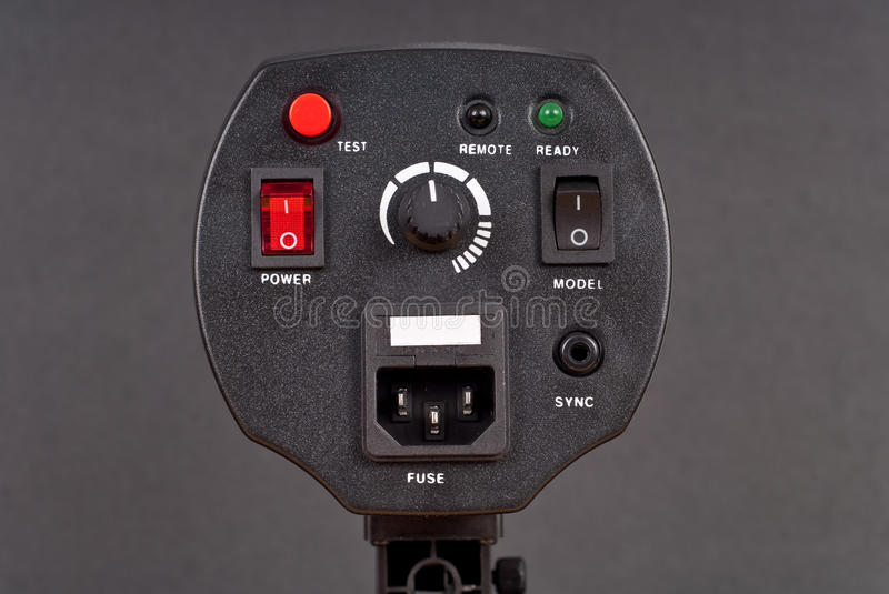 Professional Photography Strobe Controls stock photos