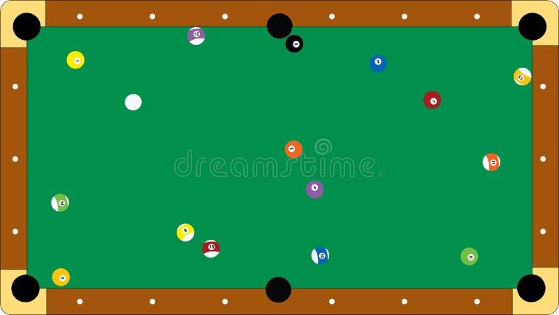Professional pool table. Illustration of a professional pool table (additional format addeed stock illustration
