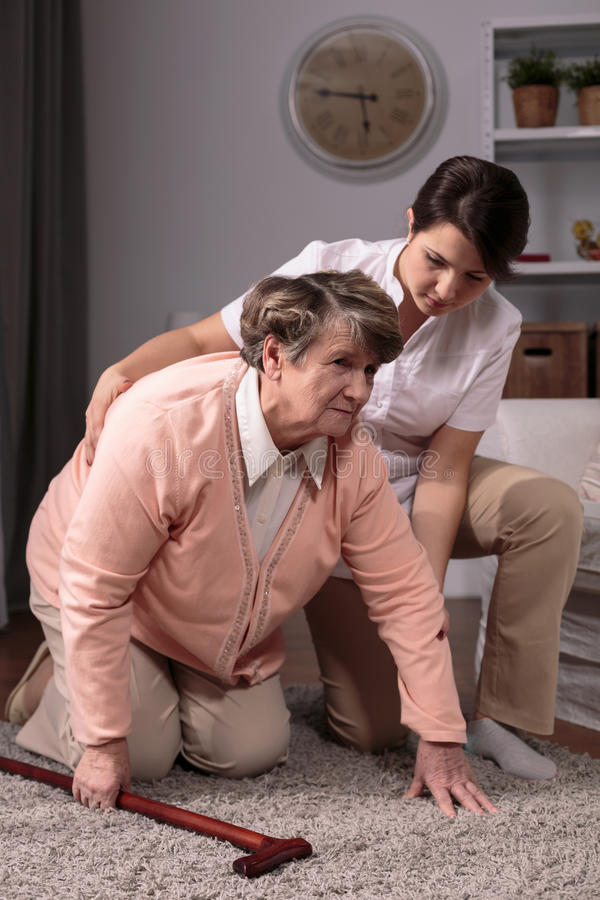 Professional private caregiver stock photography