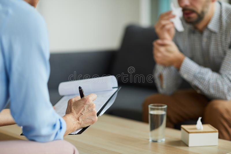 Notes about patient royalty free stock photo