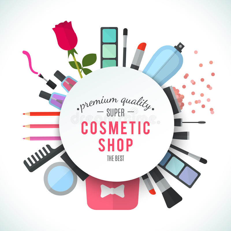 Professional Quality Cosmetics Shop Stylish Vector Logo ...