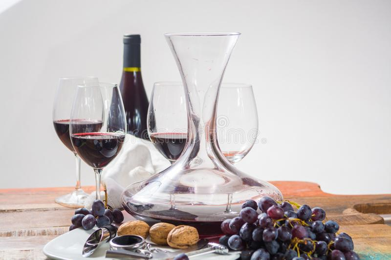 Professional red wine tasting event with high quality wine glass stock photos