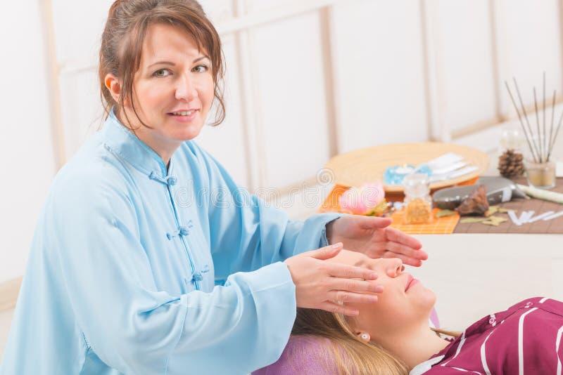 Professional reiki healing royalty free stock photo