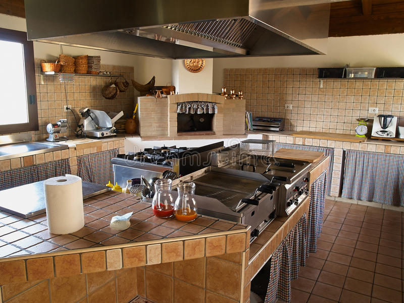 Exterior: Professional Restaurant Kitchen Stock Image