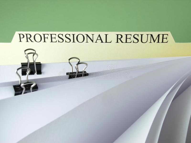 Download Resume file stock photo. Image of file, highly, foreground - 16940698
