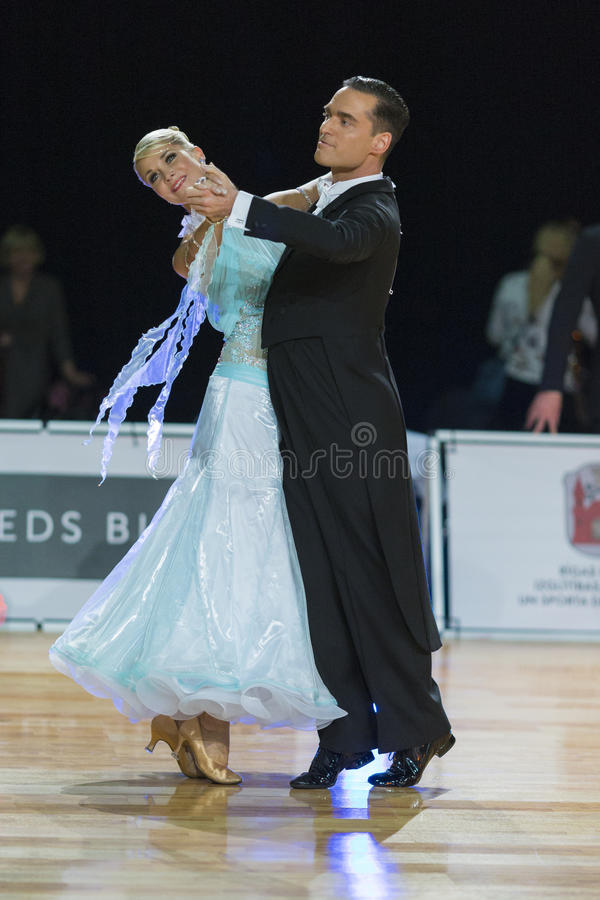 Download Professional Senior Dance Couple Performs European Standard Program On The WDSF Baltic Grand Prix-2106 Championship Editorial Stock Photo - Image: 83705558