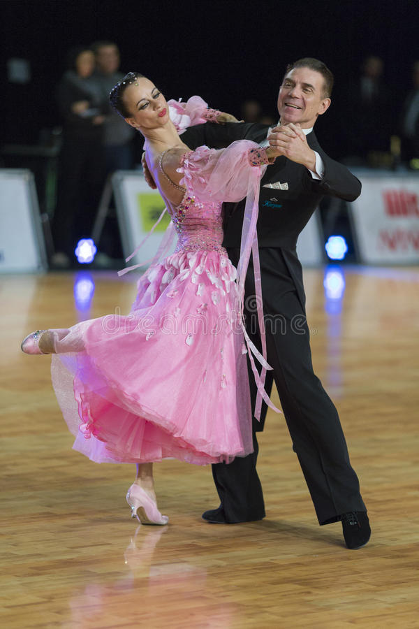 Download Professional Senior Dance Couple Performs European Standard Program On The WDSF Baltic Grand Prix-2106 Championship Editorial Photography - Image: 83705922