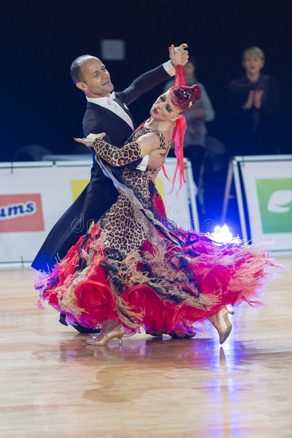 Download Professional Senior Dance Couple Performs European Standard Program On The WDSF Baltic Grand Prix-2106 Championship Editorial Photo - Image: 83707886