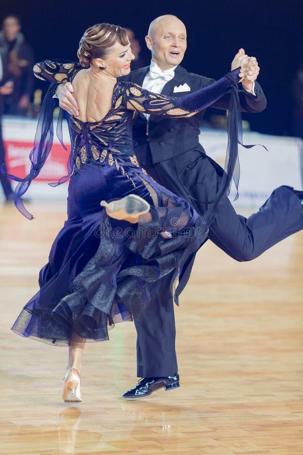 Download Professional Senior Dance Couple Performs European Standard Program On The WDSF Baltic Grand Prix-2106 Championship Editorial Image - Image: 83708425