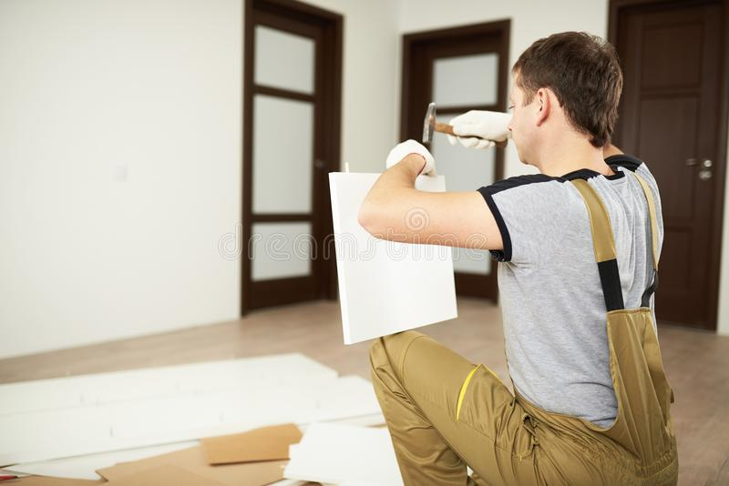 Professional service for furniture installation stock image