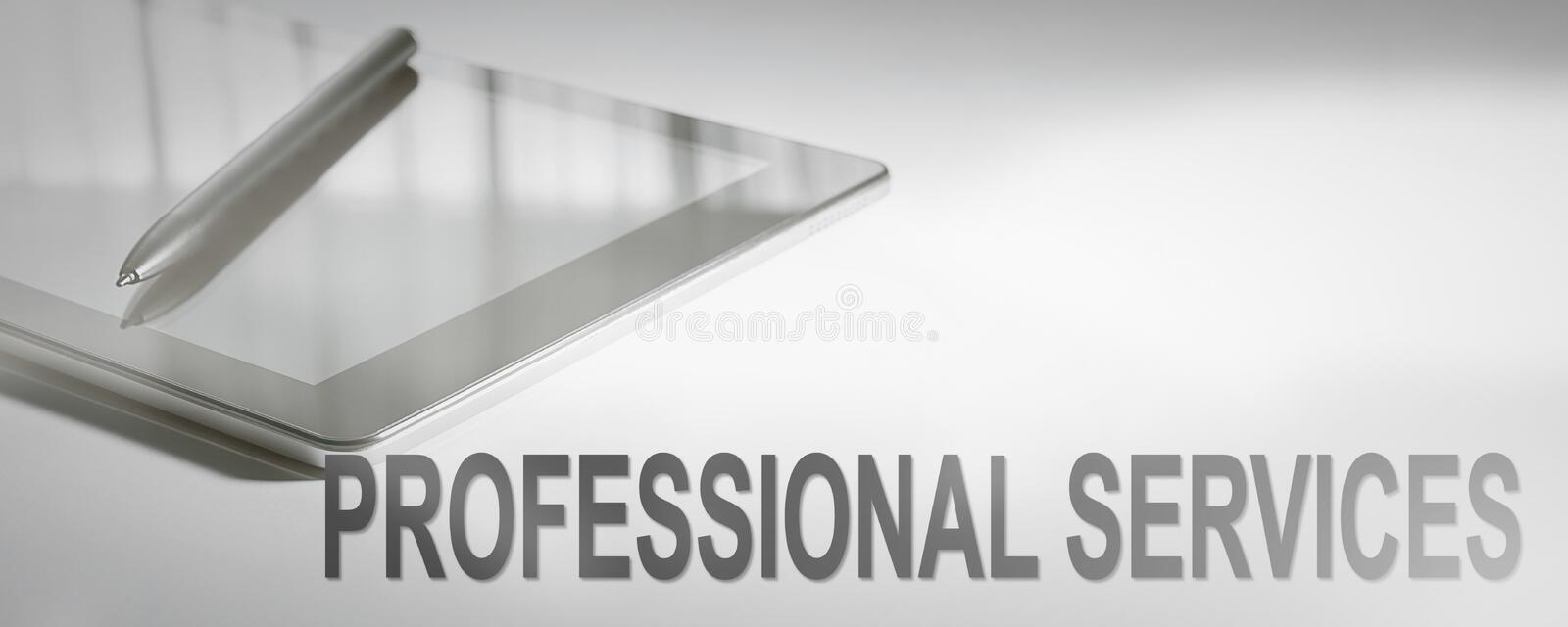 PROFESSIONAL SERVICES Business Concept Digital Technology. stock images