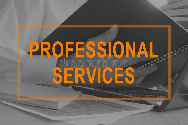 Professional services. Manager working with documents. royalty free stock photo