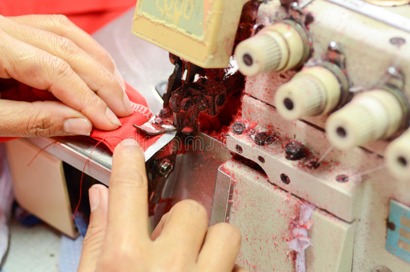 Professional Sewing stock image