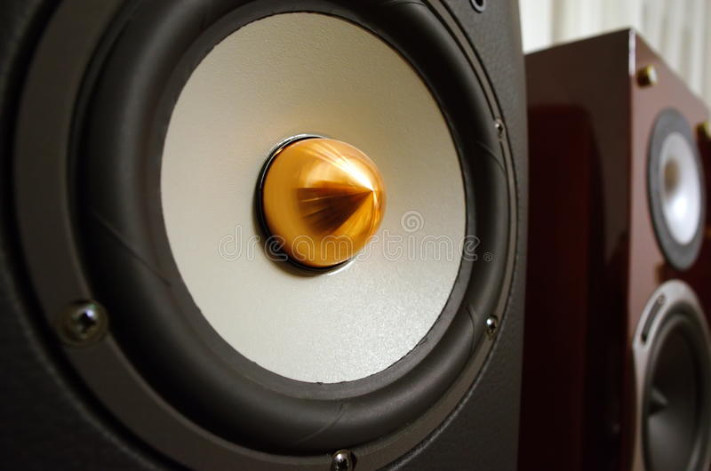 Professional speaker system. Music and sound stock image