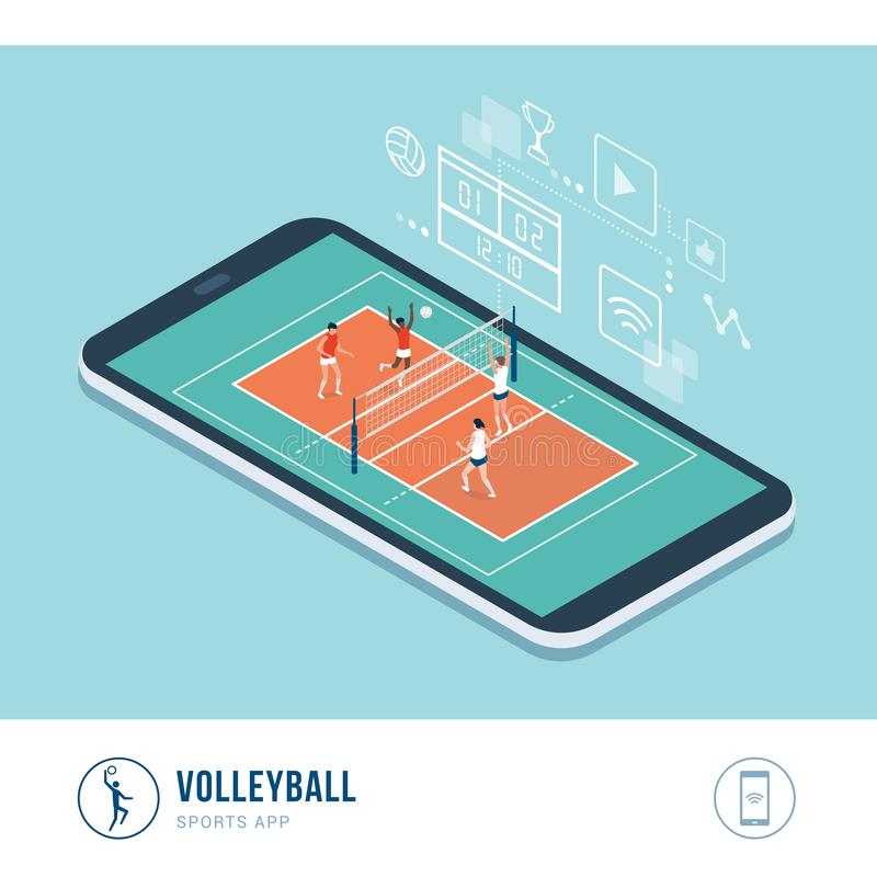 Professional sports competition: volleyball royalty free illustration