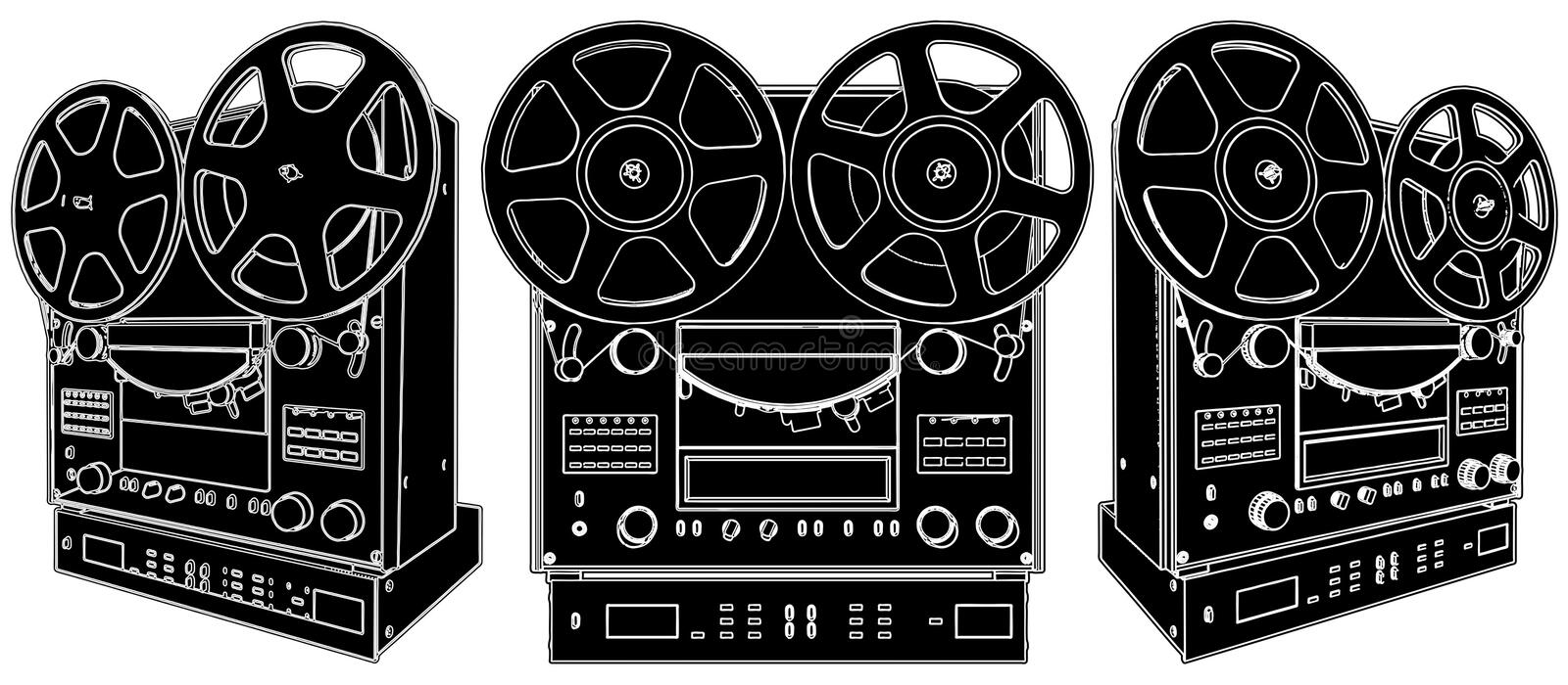 Download Professional Stereo Audio Tape Deck Recorder Stock Vector - Image: 18915009