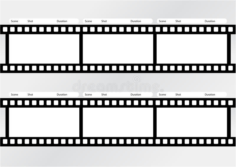 Professional Of Storyboard Film Strip Template Stock Illustration