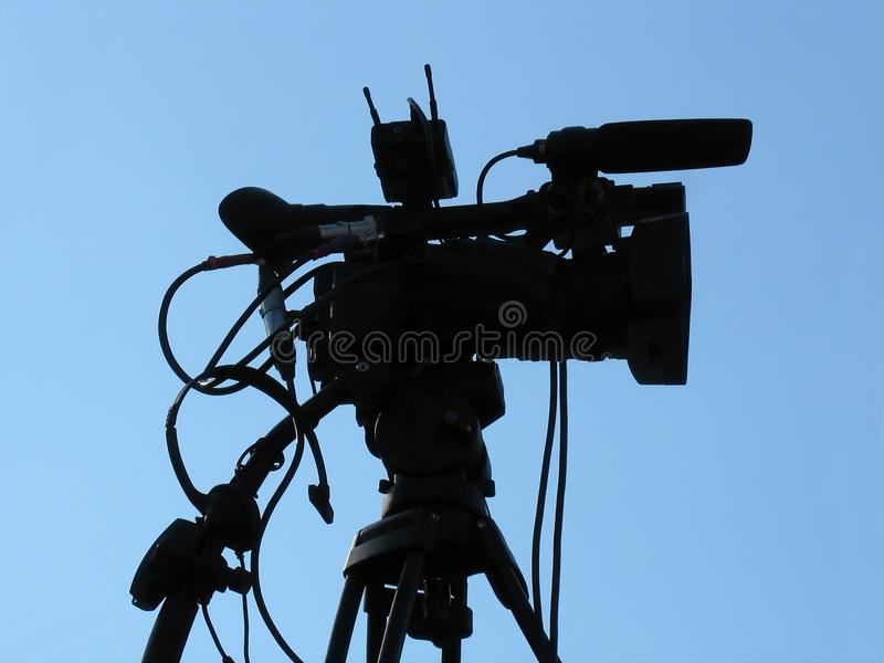 Professional studio digital video camera shape royalty free stock photos