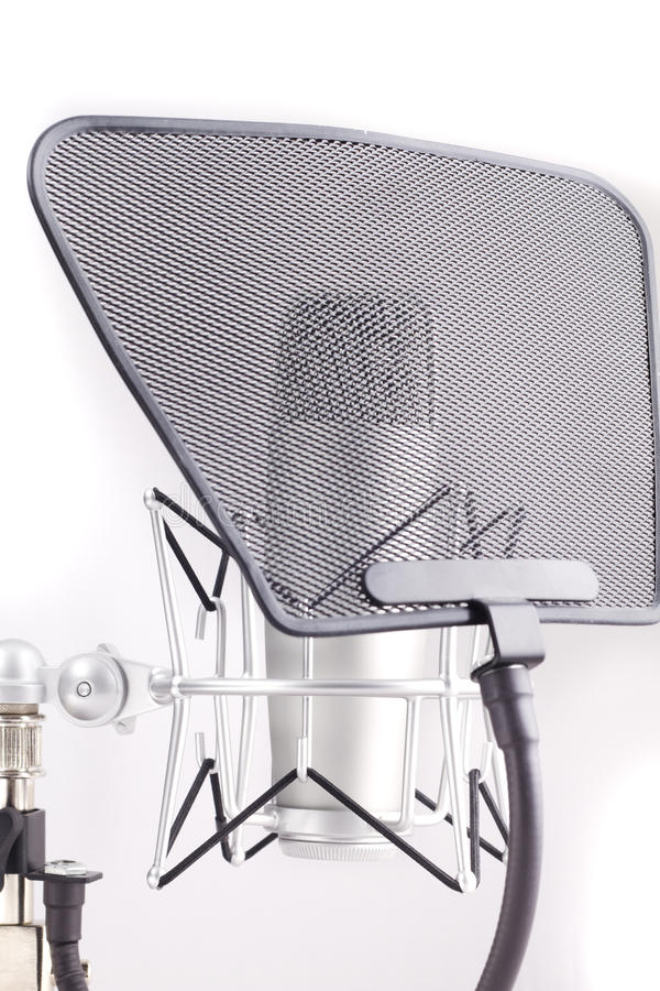 Professional Studio Microphone On White Background Stock Photography