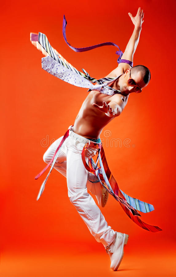 Free Professional Stunt Dancer Royalty Free Stock Photography - 17107107