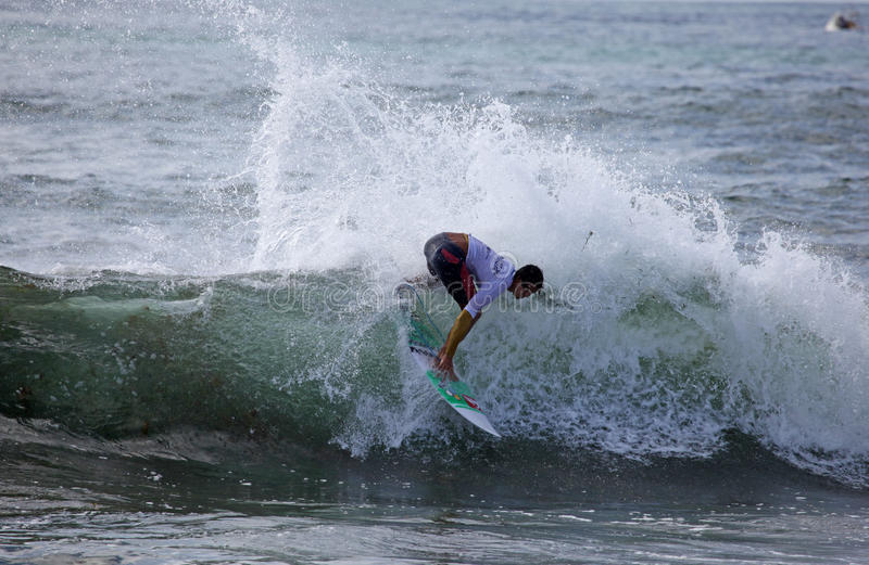 Professional Surfer - Conner Oleary - Merewether Australia. MEREWETHER AUSTRALIA - FEBRUARY 17: Conner Oleary from Australia surfing in the Burton Toyato Pro stock image