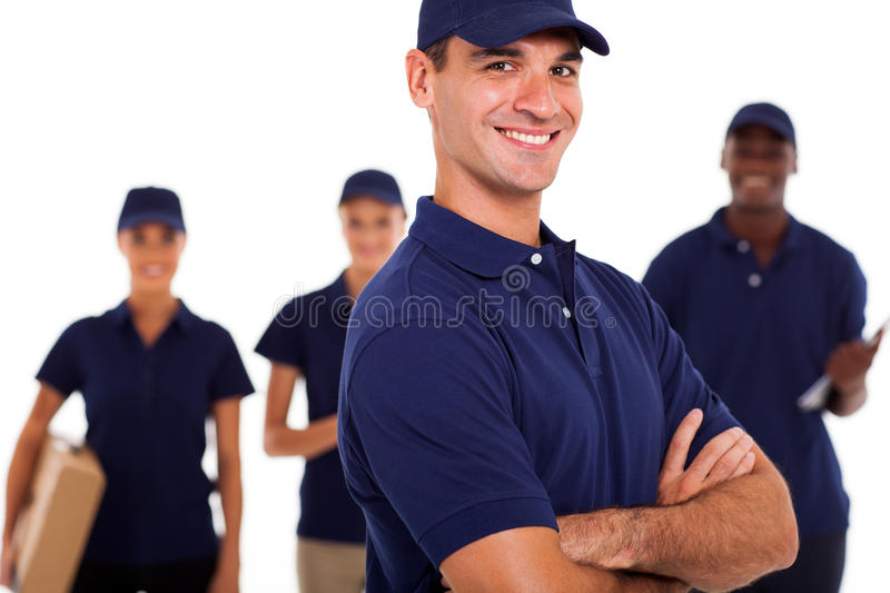 Professional IT technicians royalty free stock image