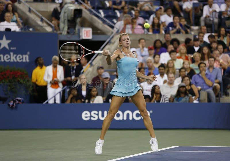 Download Professional Tennis Player Camila Giorgi During Third Round Match At US Open 2013 Against Caroline Wozniacki Editorial Photo - Image: 36745411