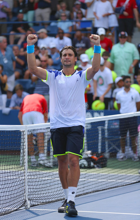Download Professional Tennis Player David Ferrer After His Win Third Round Match At US Open 2013 Against Mikhail Kukushkin Editorial Photo - Image: 36745436