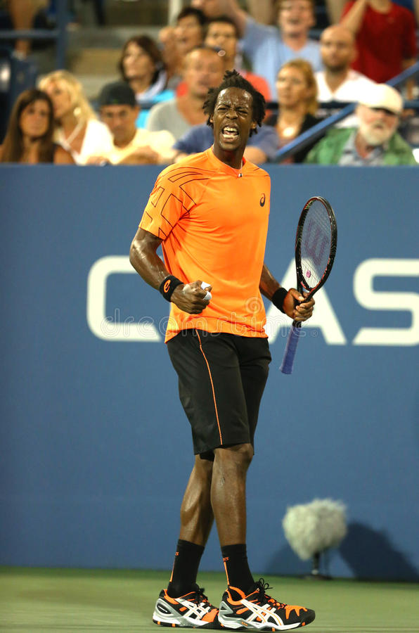 Download Professional Tennis Player Gael Monfils During Second Round Match At US Open 2013 Against John Isner Editorial Stock Image - Image: 36326514
