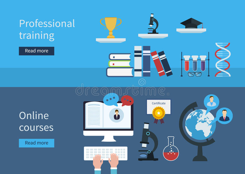Professional Training And Online Courses Stock Vector