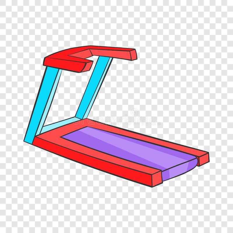 Professional treadmill icon, cartoon style vector illustration