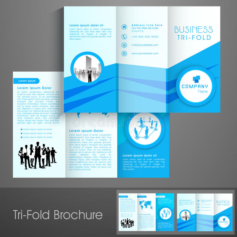 Professional trifold brochure, catalog and flyer template. Professional trifold brochure, catalog and flyer template for business purpose stock illustration