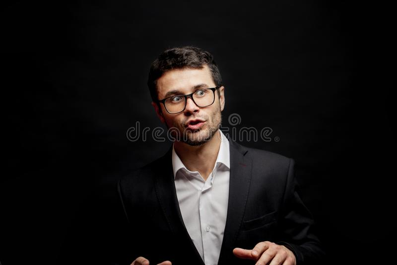 Professional tutor in the education seminar royalty free stock photography