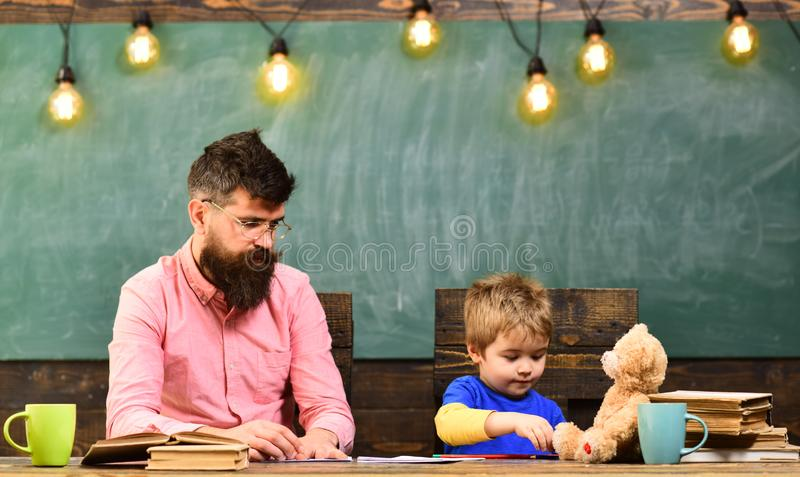 Professional tutors are experts in their academic content. business. Teacher is skilled leader. Ideal partnership stock photography