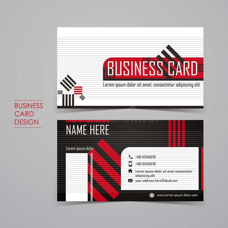 Professional vector business card set royalty free illustration