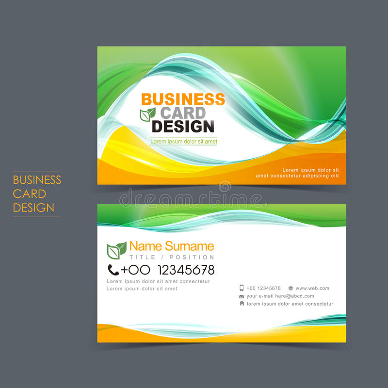 Professional Vector Business Card Set Stock Vector - Illustration of ...