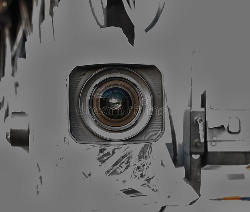 Professional digital video camera. A professional video camera, cinematography in the pavilion royalty free stock photo