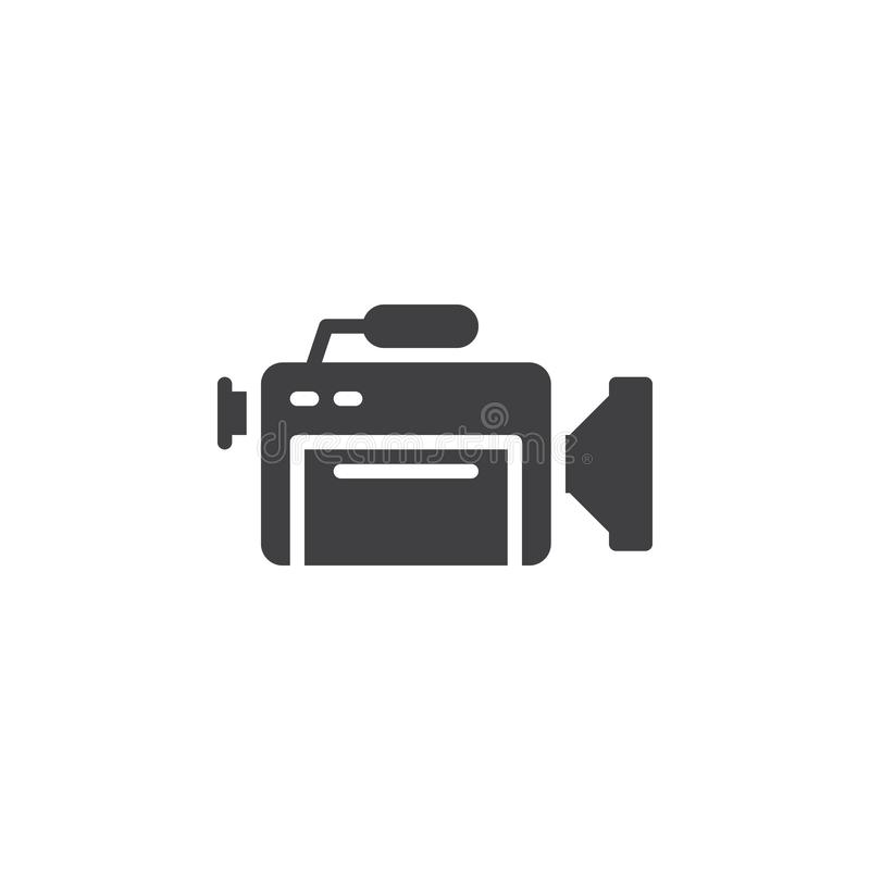 Professional video camera vector icon royalty free illustration