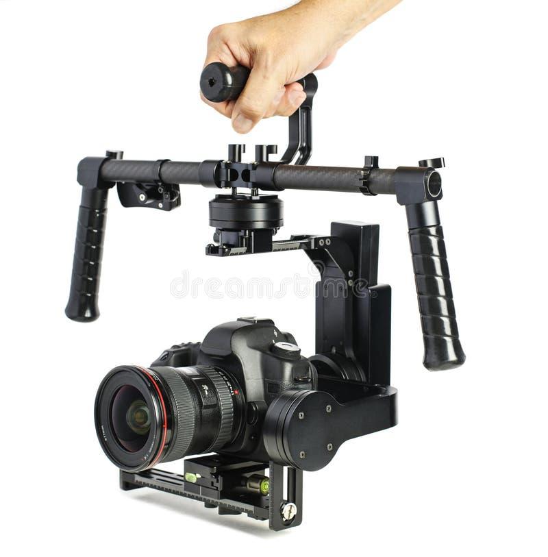 Professional Video Motorized Gimbal with Camera stock photos