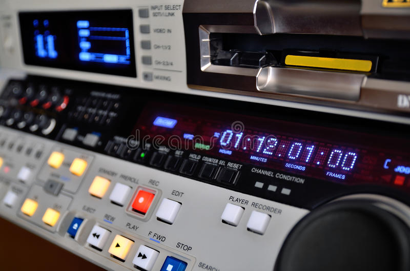 Professional video recorder royalty free stock images