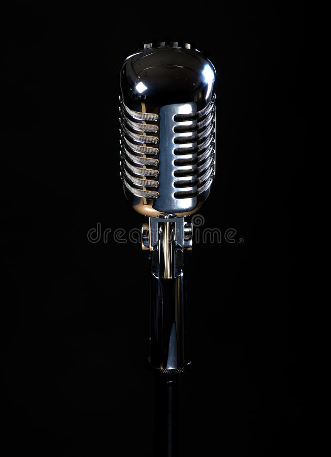 Professional Vintage Microphone Royalty Free Stock Image